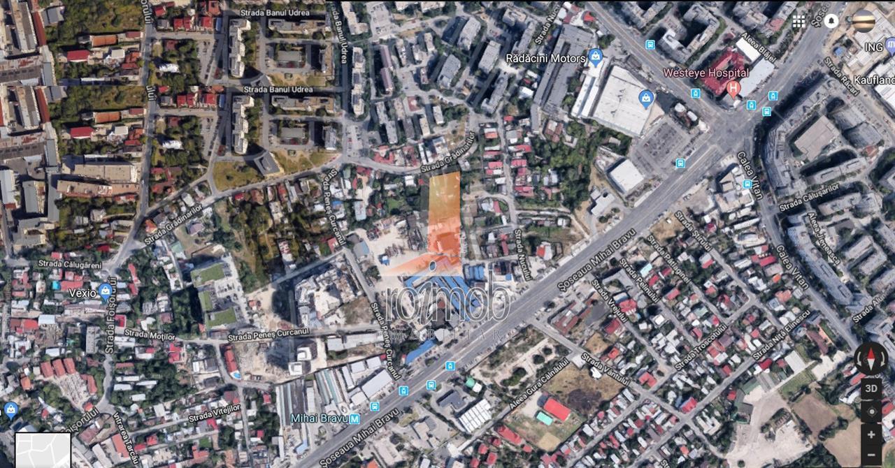 Mihai Bravu 800 mp plus drum acces 90 mp, deschidere 13