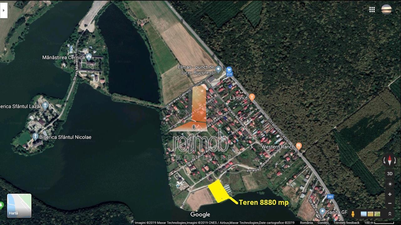 Cernica Manastire, vatra noua, 8880 mp, deschidere 70 ml la lac