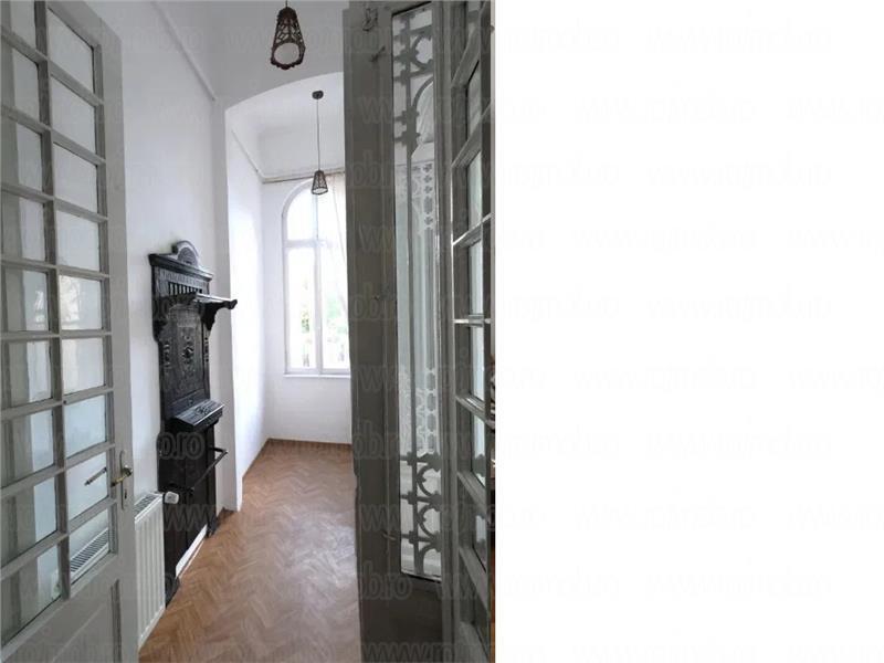 Parter de vila, intrare separata, 5 camere inalte, 170 mp, Cismigiu