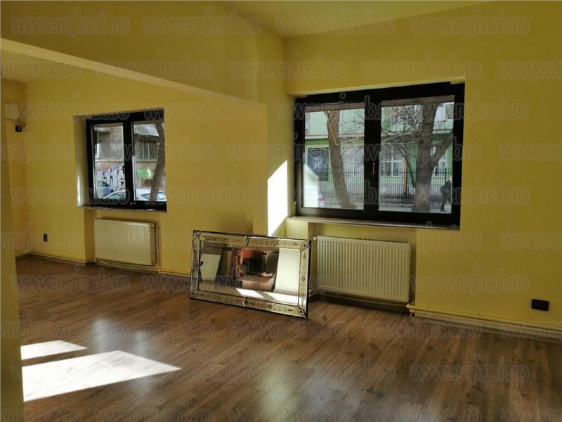 Apartament 2 camere 75 mp Piata Romana - Dacia parter pretabil firma