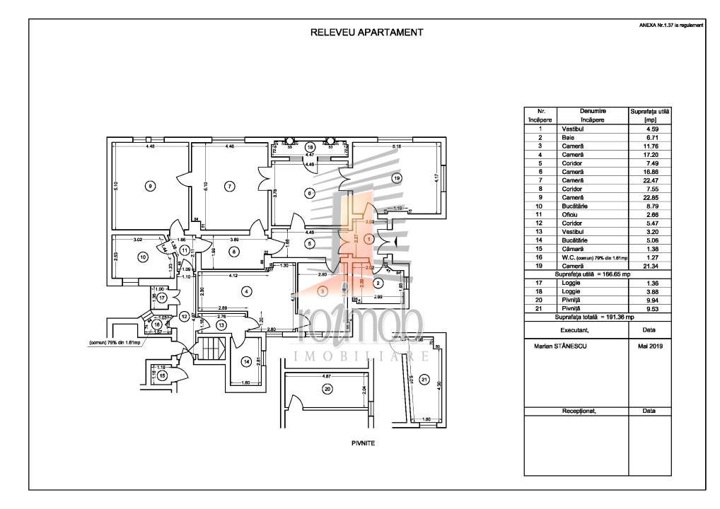 Apartament 6 camere in vila,etajul 2/S+P+2+Pod,zona Mosilor