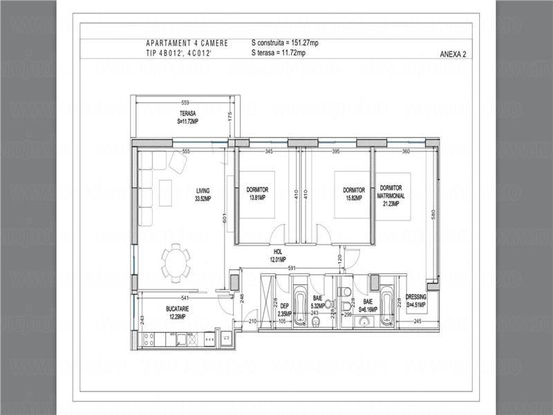 Pipera Carina Residence apartament 4 camere 2 locuri parcare subterana