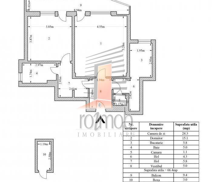 Vanzare apartament 2 camere, 75 mp, Maior Coravu