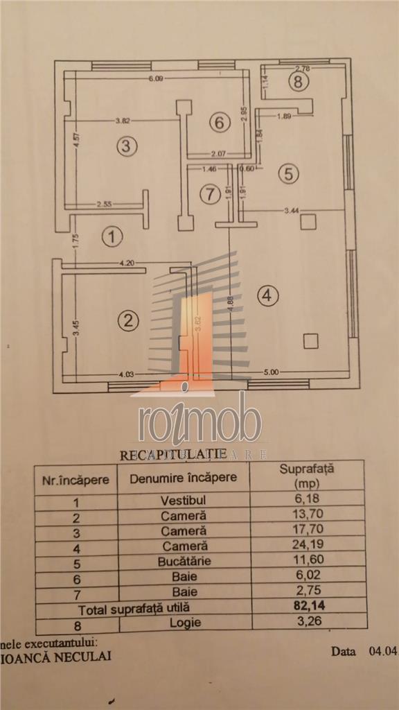 Victoriei, ap., 2 camere, (initial cu 3), Hp/ Hp+ 4, 86 mp., bloc nou.