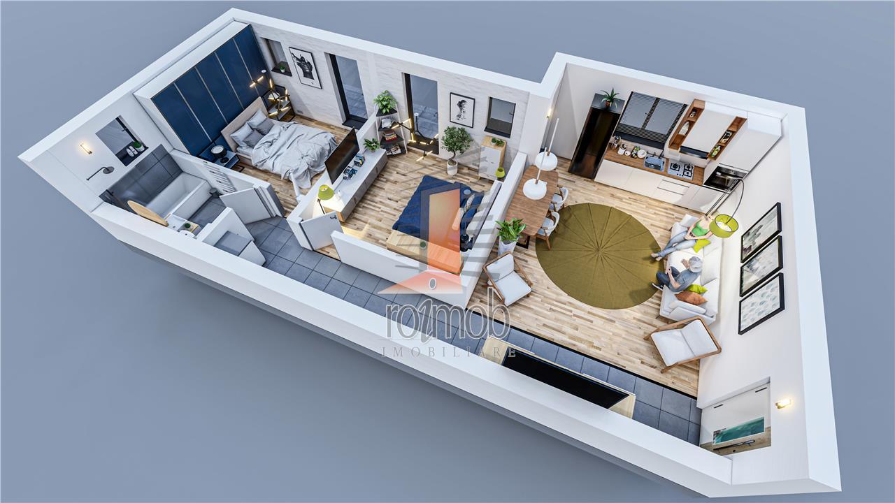 Apartament 3 camere Imobil nou Piata Resita