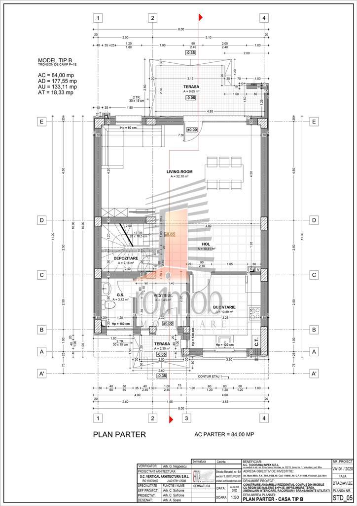 Comision 0% Stejarul Residence Pipera P+1E cu gradina si TVA inclus