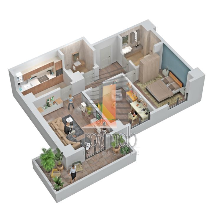 Comision 0% Central Adress Residence apartament premium 3 camere 73,9 mp