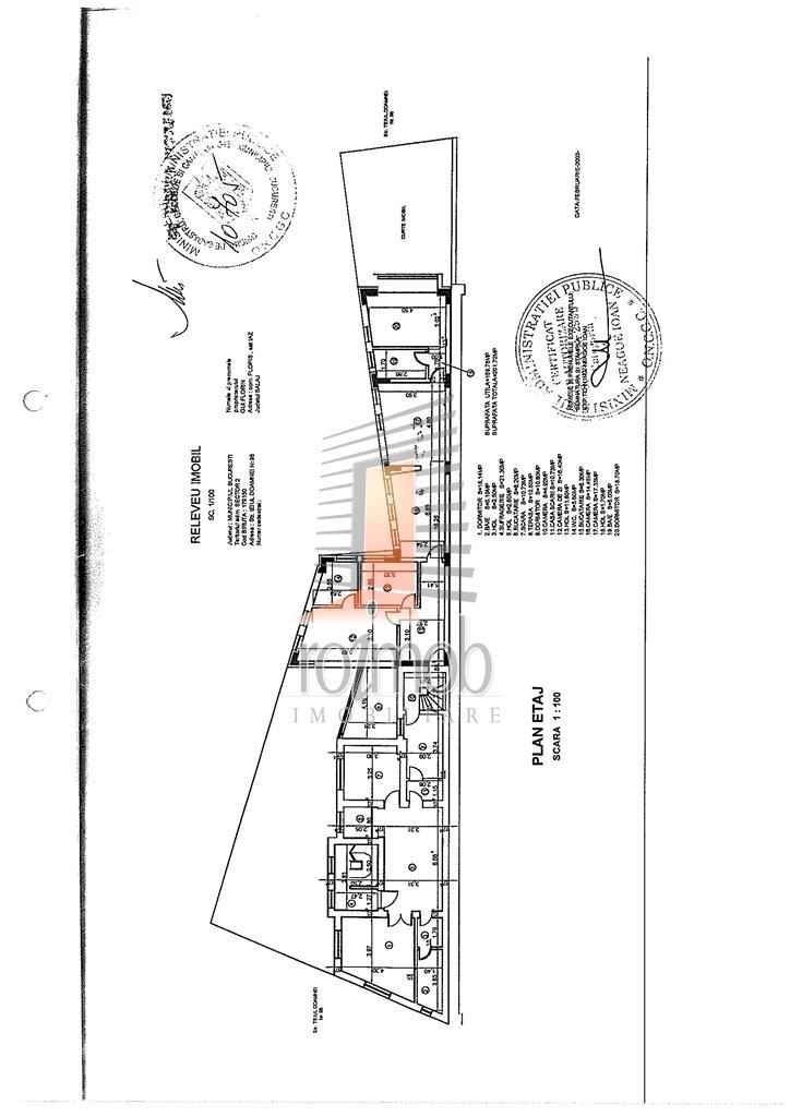 Vila S+P+2 Teiul Doamnei stradal, 20 camere, 600 mp utili