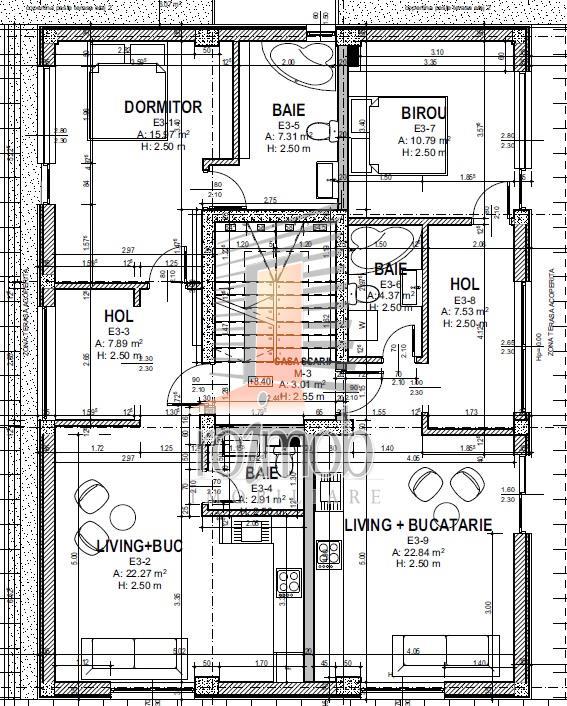 Mihai Bravu, 4 camere, bloc nou, terasa 100 mp, vedere panoramica