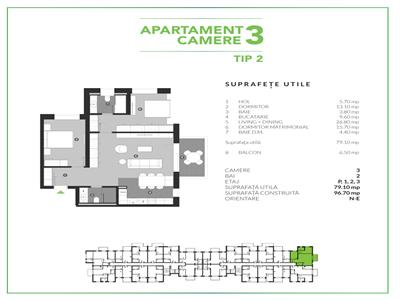 Apartament 3 Camere Basarabia - Costin Georgian Bloc 2021 Green Point