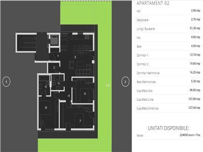 Comision 0% Ima Residence Pipera 4 camere 99 mp si curte proprie 158 mp